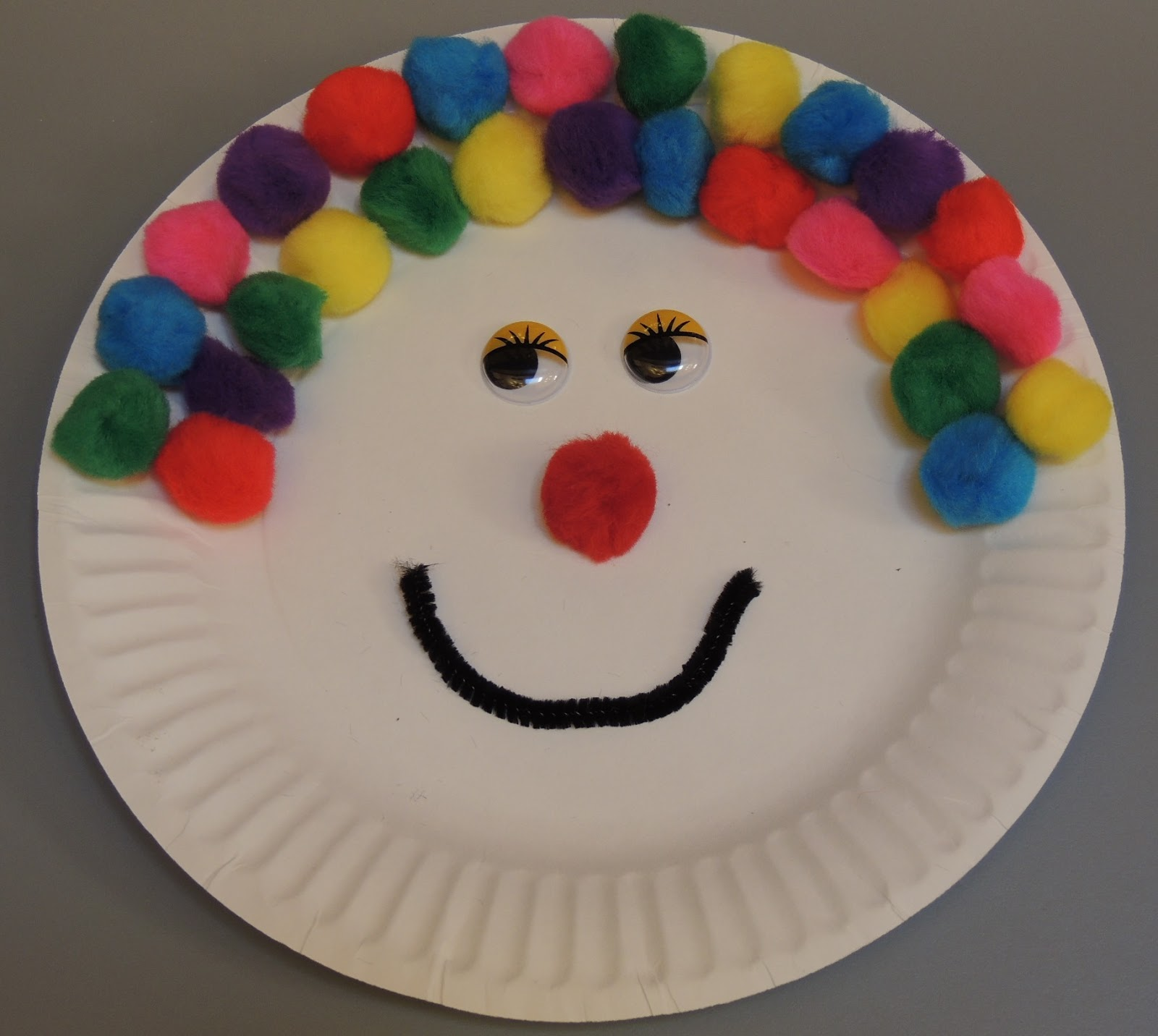 Paper Plate Clown & Child Care Basics Resource Blog: Paper Plate Clown