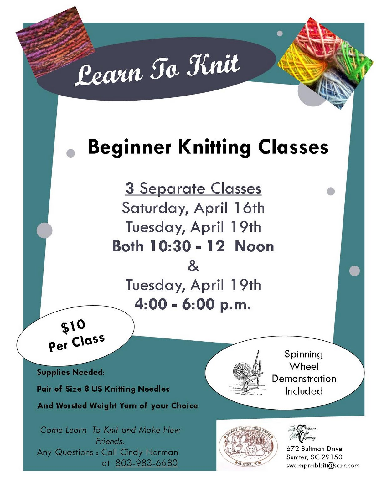 Crocheting Classes : Knitting Classes by Cindy Norman
