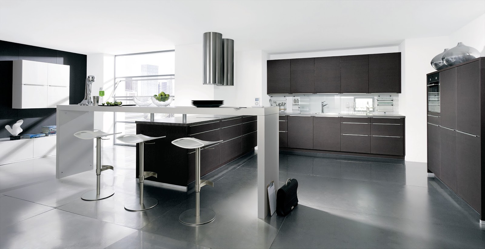 Separation cuisine americaine et salon for Cuisine americaine moderne design