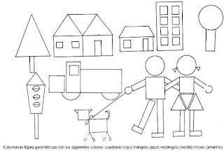 figuras geometricas para colorear dibujo 2