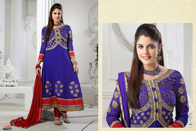 New Arrival Heavy Neck Embroidery Anarkali Suit