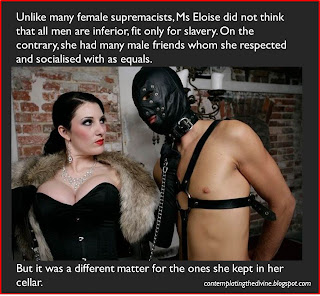 Femdom doesnt believe in getting too friendly with her slaves