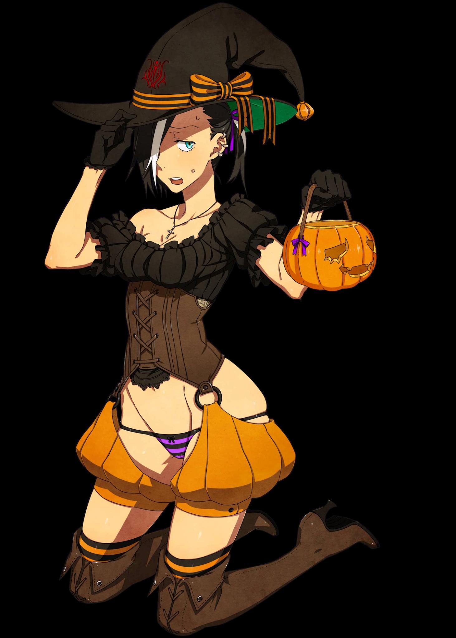 Original Art - Kamezaemon - Black Hood Halloween