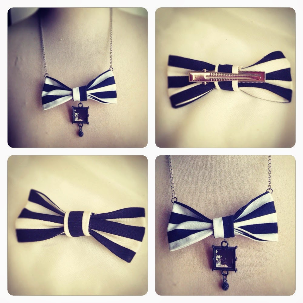 Giugizu 39 s corner d i y bow tie necklace and bow hair for Tutorial papillon