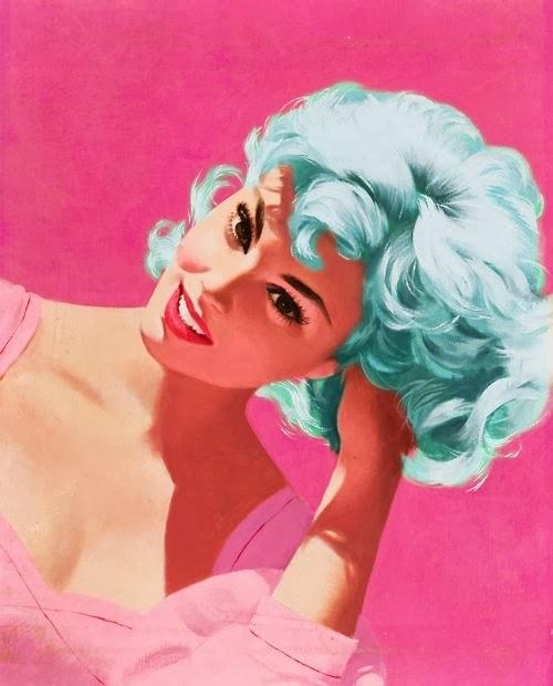 vintage pink girly illustration
