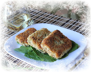 vegetarian quinoa patties with spinach