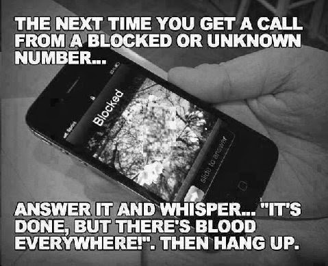 The next time you get a call from a blocked number....