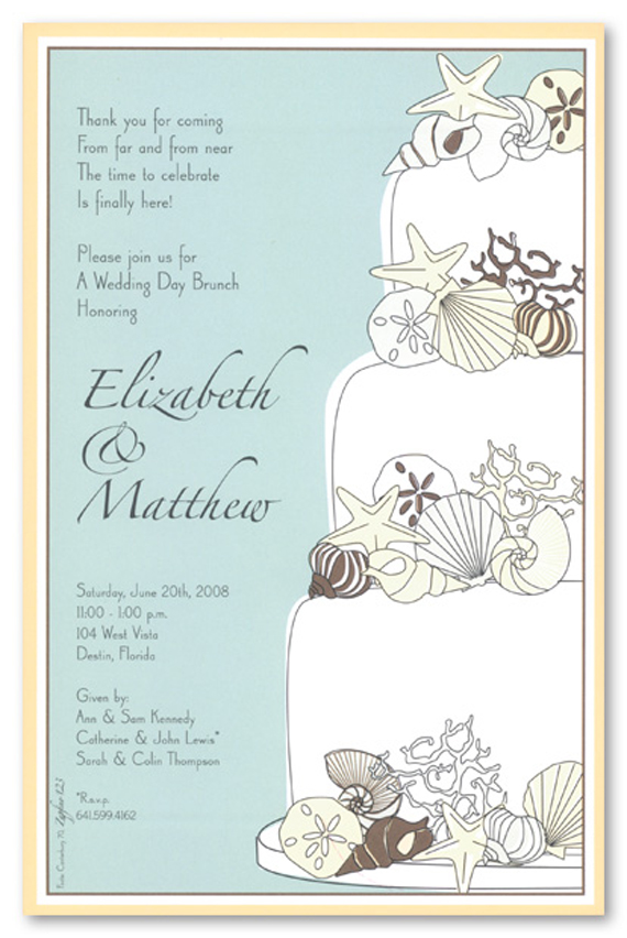 Unique Sea Shells Wedding Invitation Templates