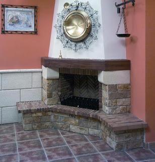 Fotos de chimeneas chimeneas rusticas ladrillo for Hogares a lena rusticos