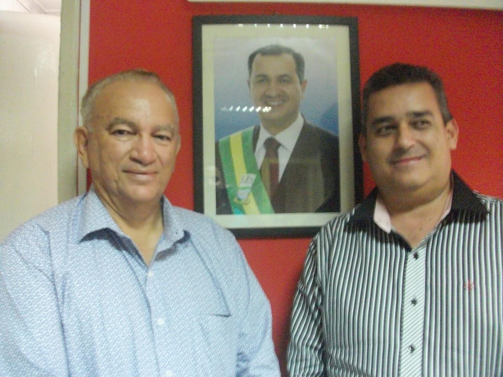 Vice prefeito Luiz Alberto e Chefe de Gabinete Rubão