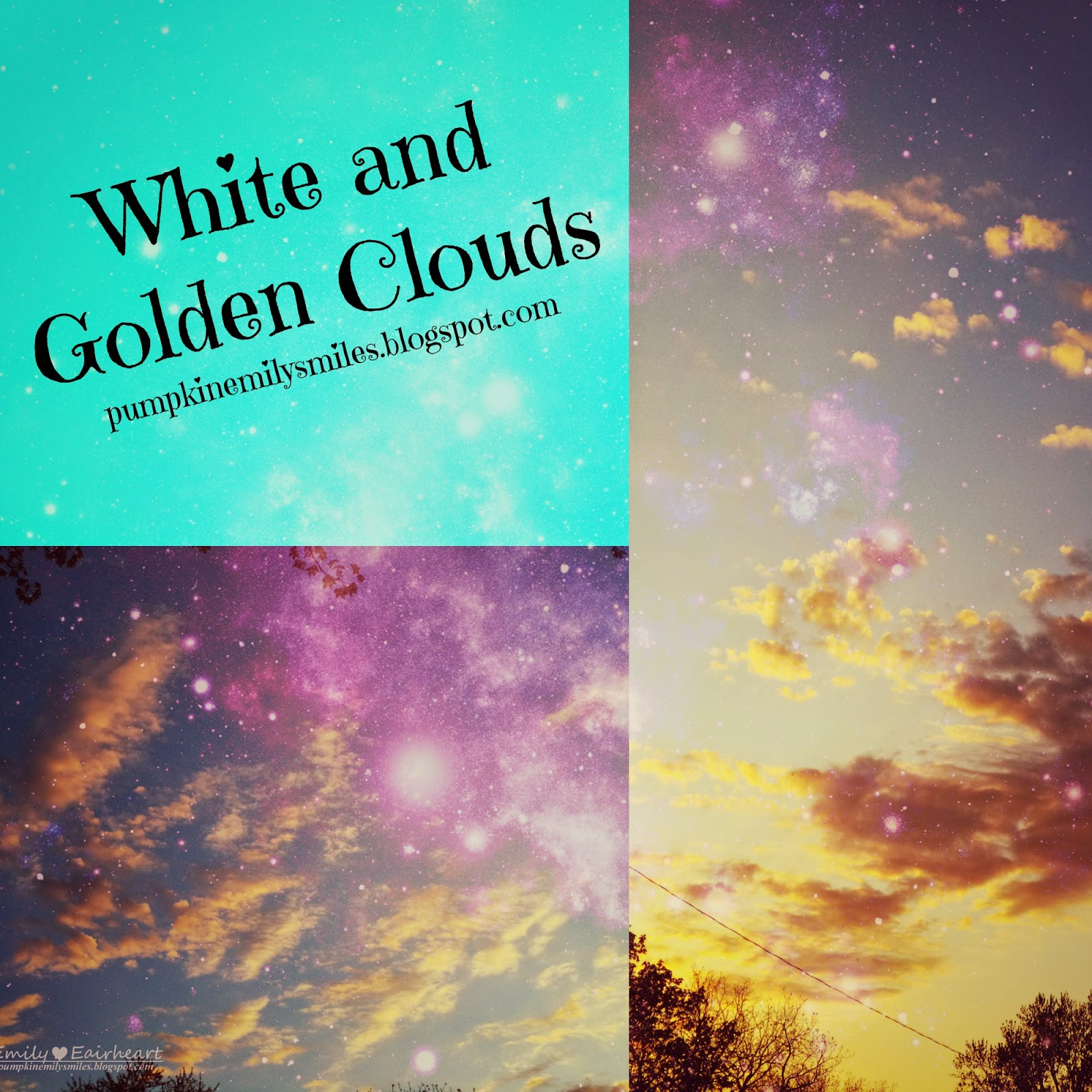 White and Golden Clouds Collage