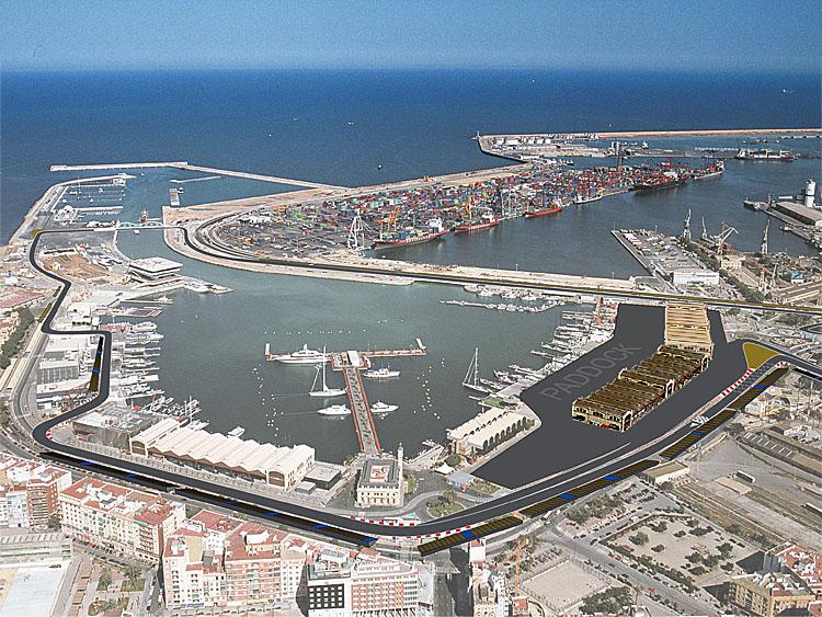 Circuito Valencia : Valencia milhas a percorrer