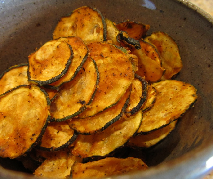 Raw Spicy Zucchini Chips Recipe