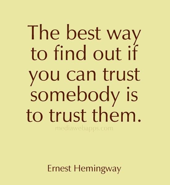 how do you trust again