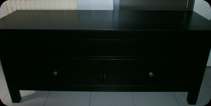 Telas cajas y tinajas pintar un mueble wengu en blanco - Pintar muebles de melamina fotos ...