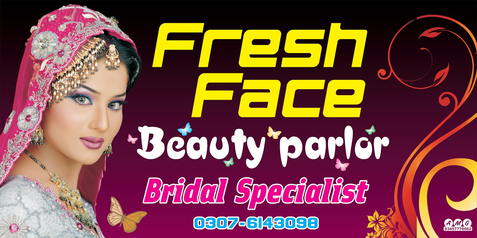 beauty parlour flex design  Fresh Face Beauty Parlor | Kashif Mir Designs | For Designers