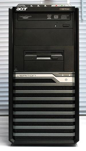 acer veriton m670g komputer bekas murah built-up uberma computer depan