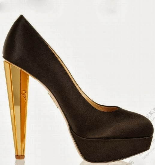 golden high heel black olympia shoes fashion window