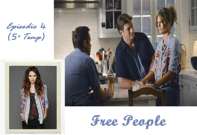 kate beckett free people camisa