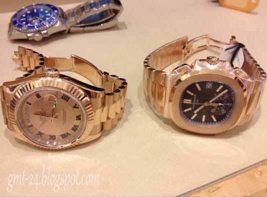 Duo Rose ( Rolex Day Date 2 / Patek Philippe Nautilus 5980R )