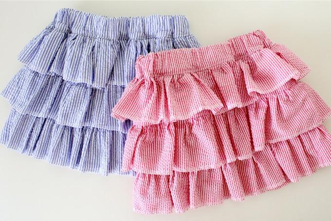 Короткую юбку с воланами своими руками