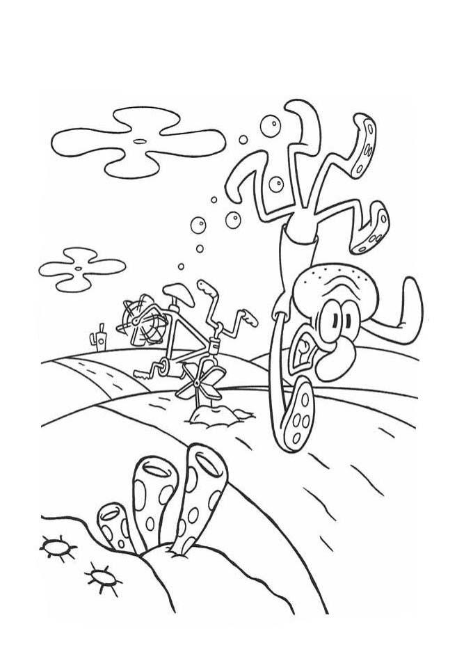 a desenhar As Aventuras De Bob Esponja colorir