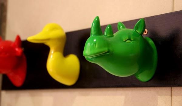 Accesorios De Baño Tiger:MaNiAtados: Un toallero DIY muy colorido