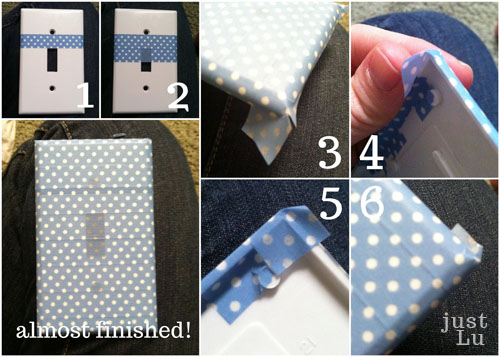 washi tape switchplate tutorial