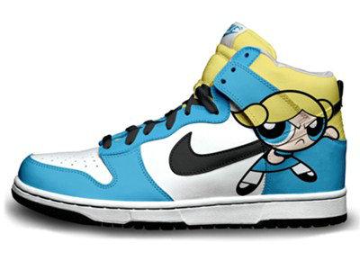 nike sb dunk cartoon shoes nike the powerpuff girls high
