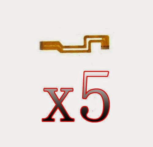 S6 5Pcs LCD Flex Cable Ribbon Repair Part for Sony DCR-HC21E HC22E HC32E HC33E