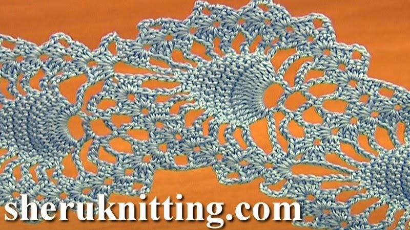 Sheruknitting Crochet Pineapple Lace Tutorial 15
