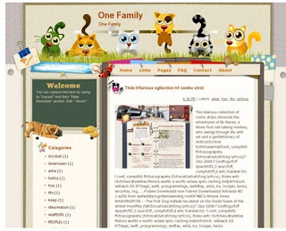 template blogger ONE FAMILY