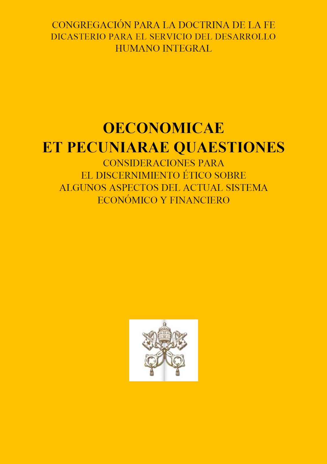 OECONOMICA ET PECUNIARAE