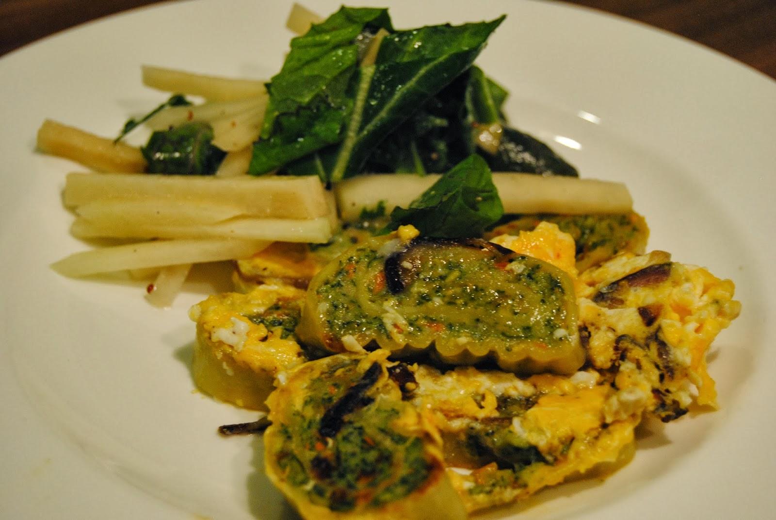 vegetarische Maultaschen mit Kohlrabi-Salat