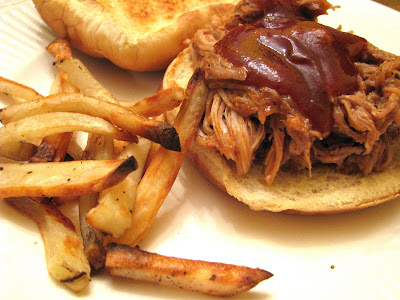 pulled pork sandwiches and fries recipe