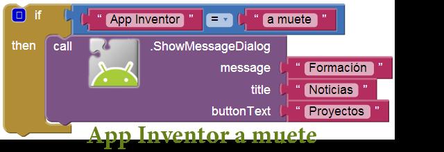 App Inventor a muete