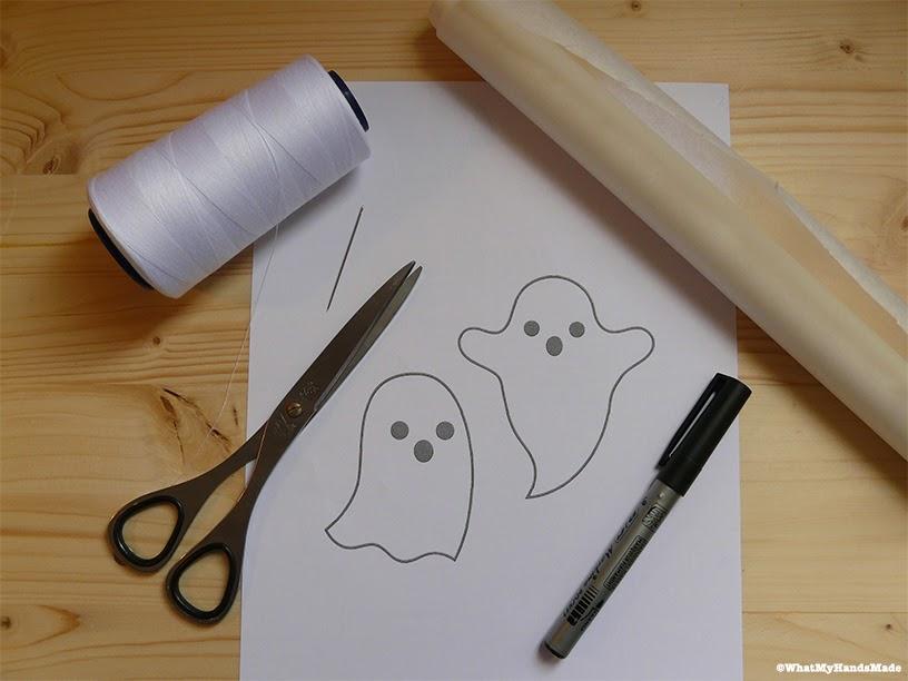 Matériel pour guirlande d'Halloween