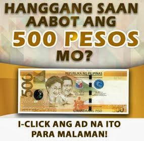 Hanggang saan maaabot ang 500 pesos mo?