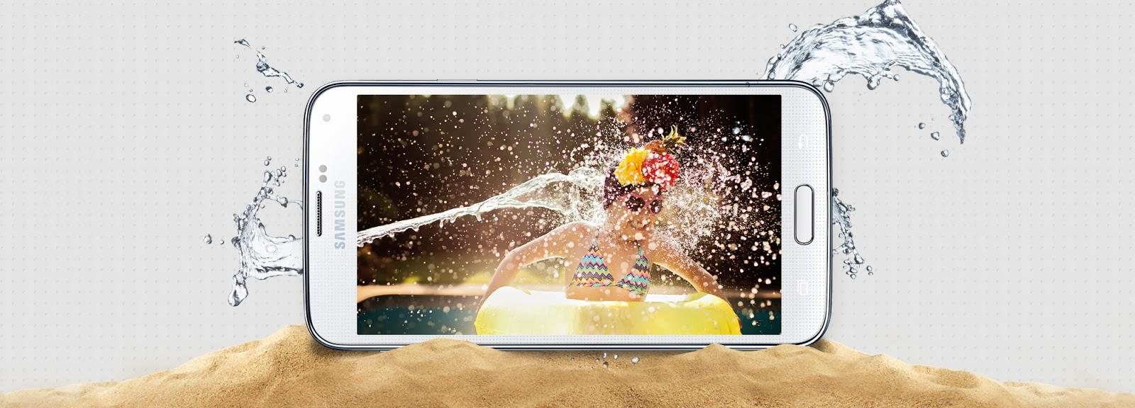 Samsung Galax S5 Toza ve Suya Karşı Dayanıklı