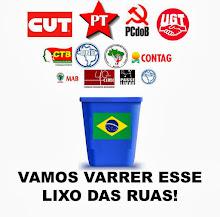 Varrendo o lixo do Brasil.