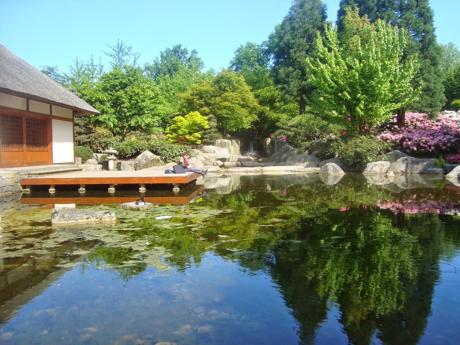Κεντρική λίμνη Ιαπωνικού κηπου