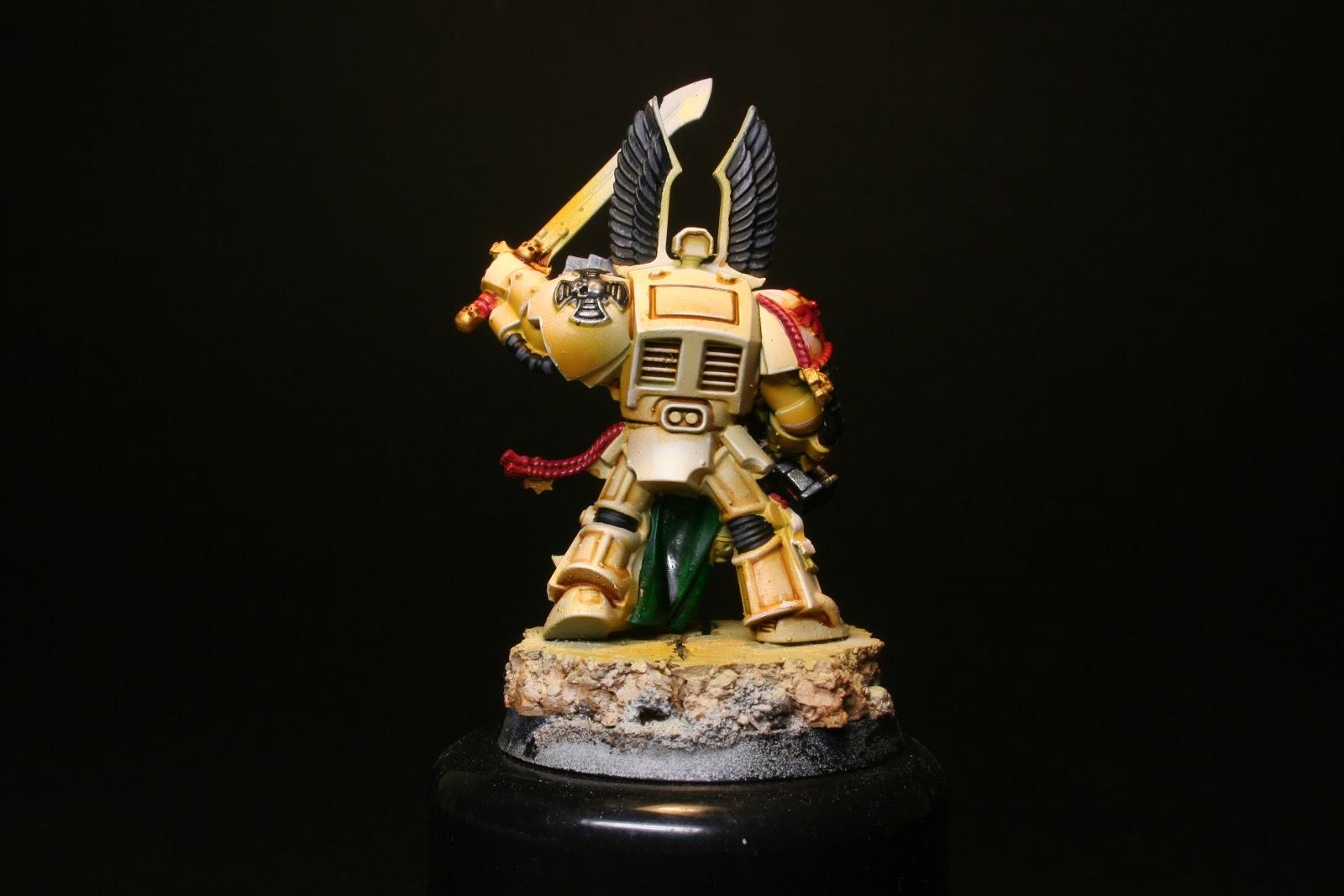 Remarcado de las aristas en los exterminador de los Ángeles Oscuros de la caja de Warhammer: Venganza Oscura