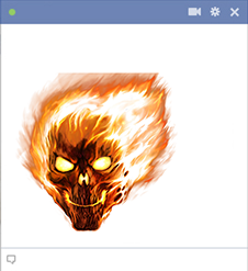 Flaming skull emoticon