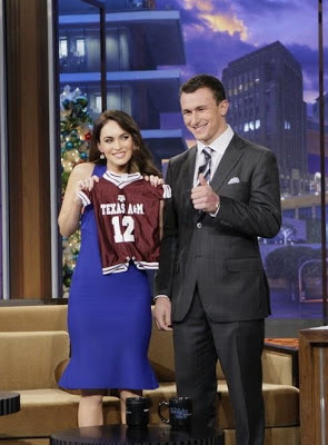 Johnny Manziel gives Megan Fox a baby gift on The Tonight Show