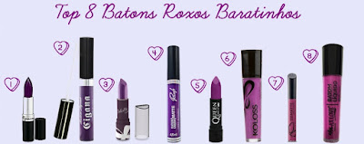 Top 8 Batons Roxos Baratinhos