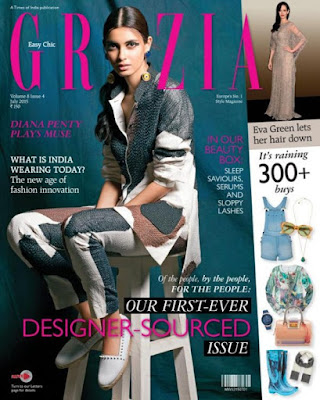 Diana Penty features on the cover of Grazia Magazine's Indian edition