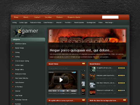 tema premium para blog de jogos