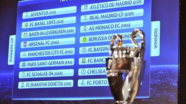 Emparejamientos de octavos de final de la Champions - FC Barcelona ...