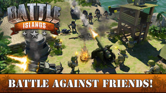 Battle Islands a game like Boom Beach