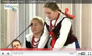 Polska wieś a GMO - 11-letnia Patrycja Dunat